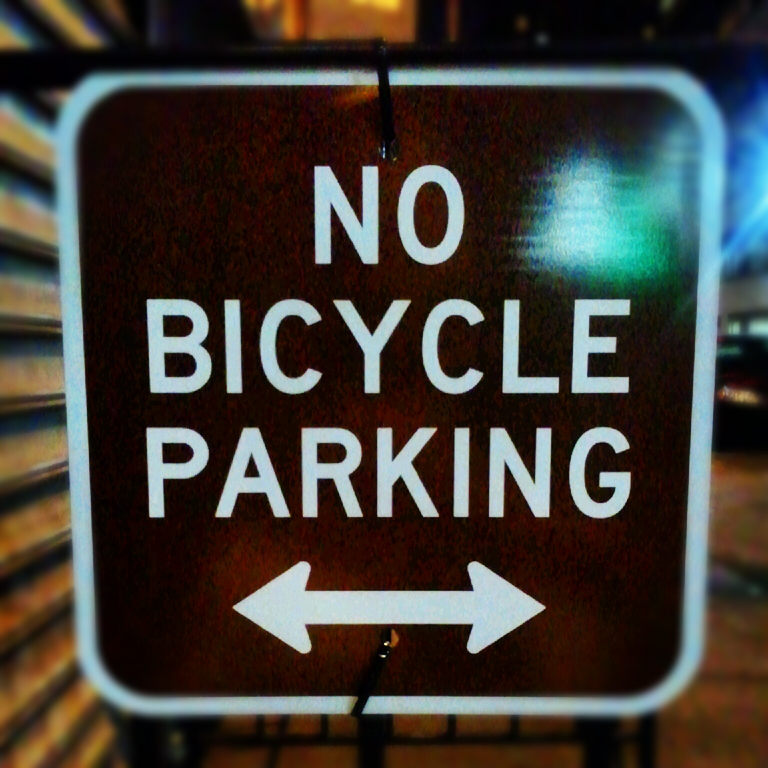 New York Parking Signs no Bicycle Parking Sign – New