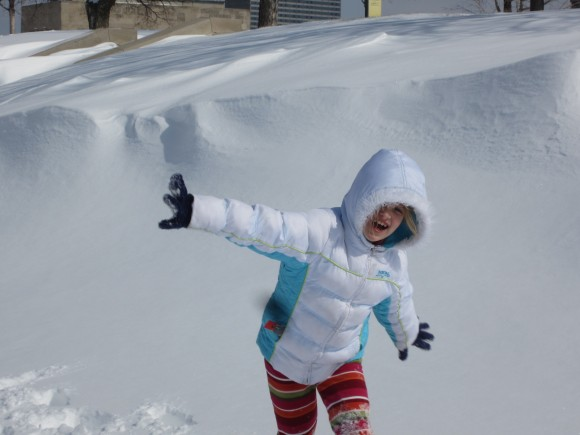 My carefree niece in the snow last week.